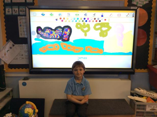 Using the new interactive boards.